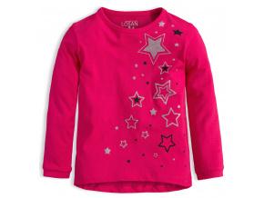 Dívčí triko LOSAN HVĚZDY růžové