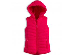 Dívčí prošívaná vesta KNOT SO BAD růžová