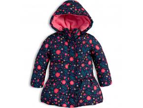 Dívčí zimní bunda LOSAN KYTIČKY modrá