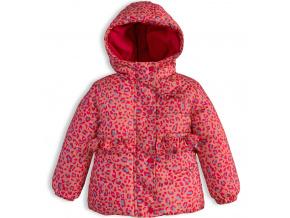 Dívčí zimní bunda LEMON BERET POTISK oranžová