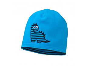 Chlapecká fleecová čepice YETTY DINO modrá tyrkysová