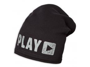 Chlapecká zimní čepice YETTY PLAY černá