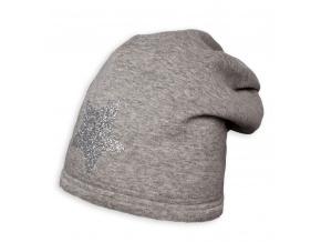 Dívčí zimní čepice YETTY HVĚZDA šedá