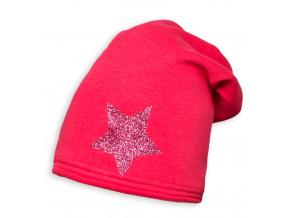 Dívčí zimní čepice YETTY HVĚZDA růžová