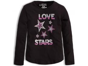 Dívčí triko LOSAN LOVE STARS černé