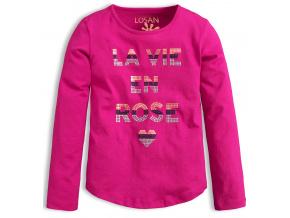 Dívčí triko LOSAN ROSE růžové