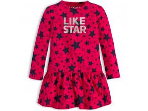 Dívčí bavlněné šaty LOSAN LIKE STAR tmavě růžové