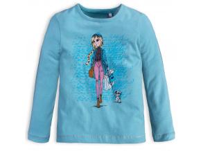 Dívčí triko KNOT SO BAD SHOPPING tyrkysové