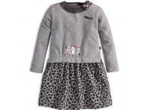 Dívčí šaty s dlouhým rukávem Mix´nMATCH KOČIČKY šedé