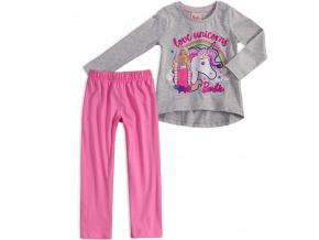 Dívčí pyžamo BARBIE JEDNOROŽEC šedý melír