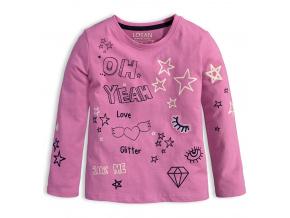 Dívčí tričko s dlouhým rukávem LOSAN YEAH růžové
