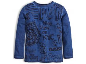 Chlapecké tričko dlouhý rukáv KNOT SO BAD FUN modré