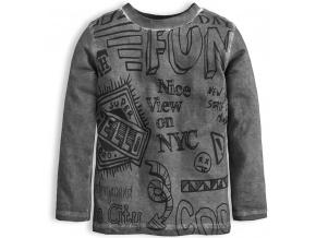 Chlapecké tričko dlouhý rukáv KNOT SO BAD FUN šedé