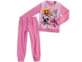 Dívčí pyžamo EMOJI SMAJLÍK světle růžové