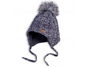 Dětská zimní pletená čepice DASTEL ECHO šedá