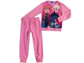 Dívčí pyžamo DISNEY FROZEN ANNA a ELSA světle růžové