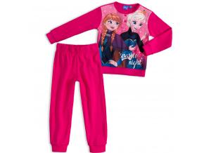 Dívčí pyžamo DISNEY FROZEN ANNA a ELSA tmavě růžové