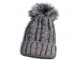 Dětská pletená zimní čepice DASTEL PLEJADA šedá