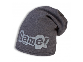 Chlapecká zimní čepice YETTY GAMER šedá