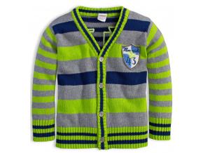 Chlapecký rozepínací svetr DIRKJE MAWERICK zelený