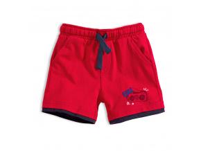 Chlapecké bavlněné šortky KNOT SO BAD COOL červené