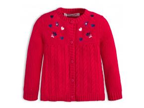 Kojenecký dívčí svetr BABALUNO SPARKLE červený