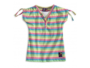 Dívčí tričko PEBBLESTONE SUMMER modré proužky