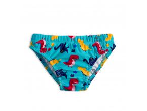 Chlapecké plavky KNOT SO BAD DINO tyrkysové