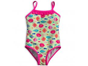 Plavky vcelku pro holčičky KNOT SO BAD RYBKY zelené