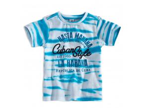 Chlapecké tričko PEBBLESTONE CUBAN STYLE tyrkysové