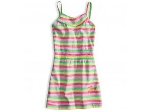 Dívčí letní šaty PEBBLESTONE SUMMER růžové proužky