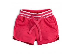 Dívčí šortky KNOT SO BAD KAMÍNKY růžové