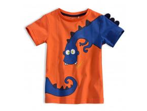 Chlapecké tričko KNOT SO BAD DINOSAURUS oranžové