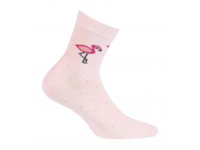 Dívčí ponožky se vzorem GATTA PLAMEŇÁK růžové