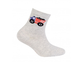Chlapecké ponožky s obrázkem GATTA NÁKLAĎÁK šedé