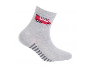 Chlapecké vzorované ponožky GATTA HASIČI šedé
