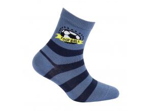 Chlapecké vzorované ponožky GATTA FOOTBALL modré