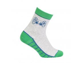Vzorované chlapecké ponožky GATTA GAME šedé