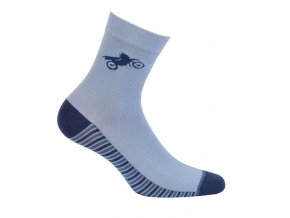 Chlapecké vzorované ponožky GATTA MOTORKA modré