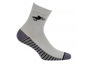 Chlapecké vzorované ponožky GATTA MOTORKA šedé