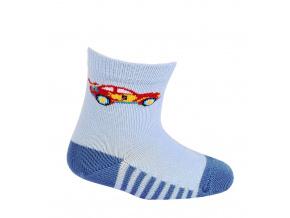 Kojenecké vzorované ponožky WOLA AUTÍČKO modré