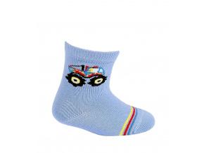 Kojenecké chlapecké ponožky WOLA MONSTER TRUCK modré blue