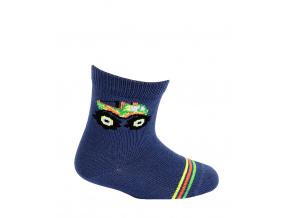 Kojenecké chlapecké ponožky WOLA MONSTER TRUCK modré navy