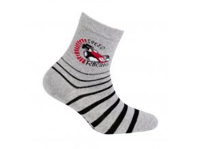 Vzorované chlapecké ponožky WOLA FORMULE šedý melír
