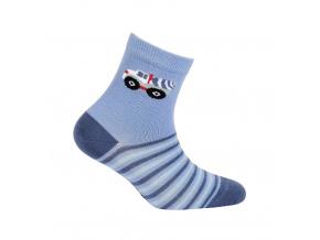 Vzorované chlapecké ponožky WOLA AUTO MÍCHAČKA modré