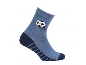 Vzorované chlapecké ponožky WOLA MÍČ modré