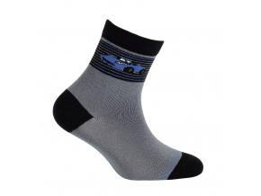 Vzorované chlapecké ponožky WOLA AUTO šedé