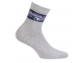 Chlapecké ponožky s obrázkem WOLA LEGENDARY světle šedé