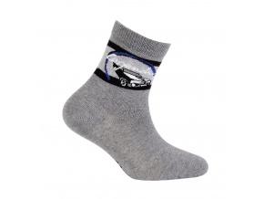 Chlapecké ponožky s obrázkem WOLA LEGENDARY tmavě šedé