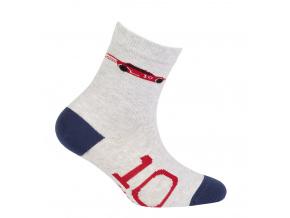 Chlapecké vzorované ponožky WOLA AUTO světle šedé
